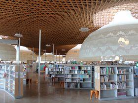 木の大屋根と光のドームの近未来図書館「みんなの森 ぎふメディアコスモス」|岐阜県|トラベルjp<たびねす>