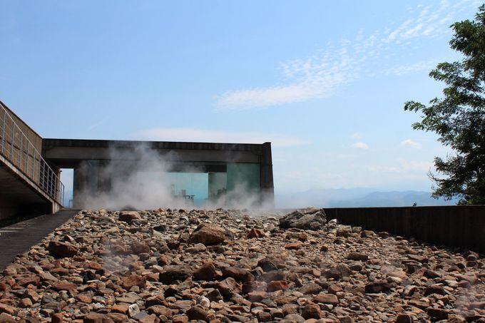グリーンランドの石庭を抜け、絶景カフェでホッと一息