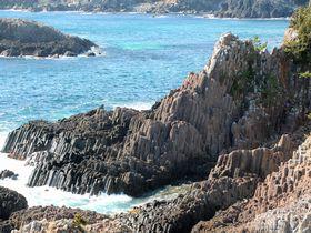 岬の絶景を望遠レンズで!伊豆下田「爪木崎」の海と水仙と俵磯