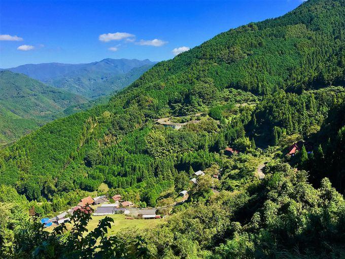 山深い四国山地の奥に突然開ける現代の桃源郷