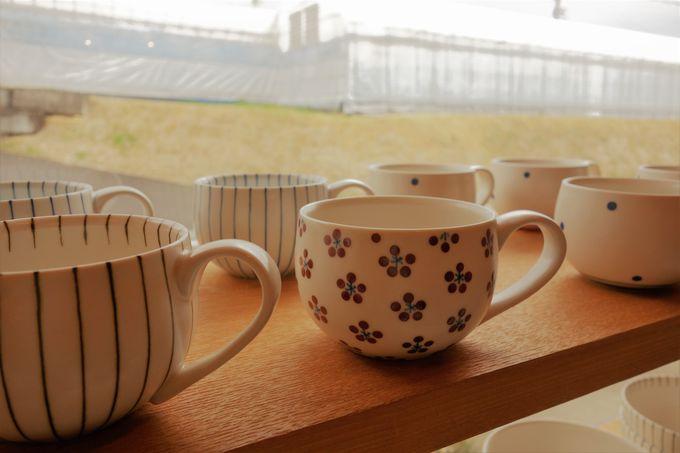 独特なつや消しと手触り「すこし屋松田窯」、優しいデザインとこだわりのろくろ成形「森陶房」
