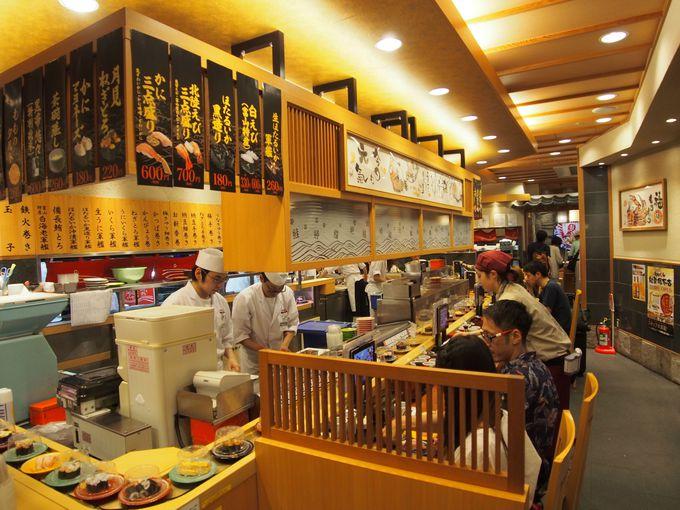 市場ならではの早朝営業!朝食を楽しめる回転寿司