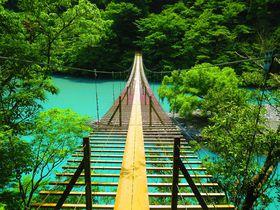 静岡・寸又狭「夢の吊り橋」が絶景すぎる!ミルキーブルーの湖が美しい