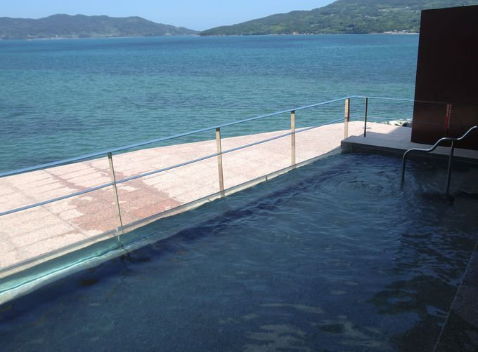 海水浴の後は、楊貴館の温泉でお肌ツルツル
