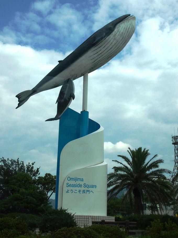 大きなクジラが目印のショップ青海島