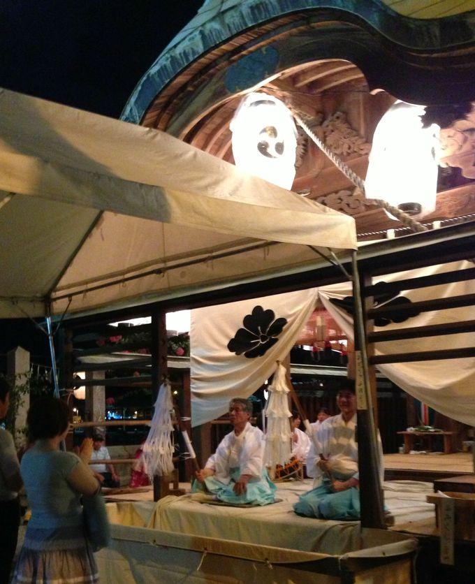 花火の後は、住吉神社でお参り