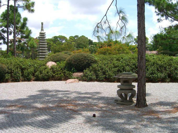 まるで京都の庭園を思い出させる風景