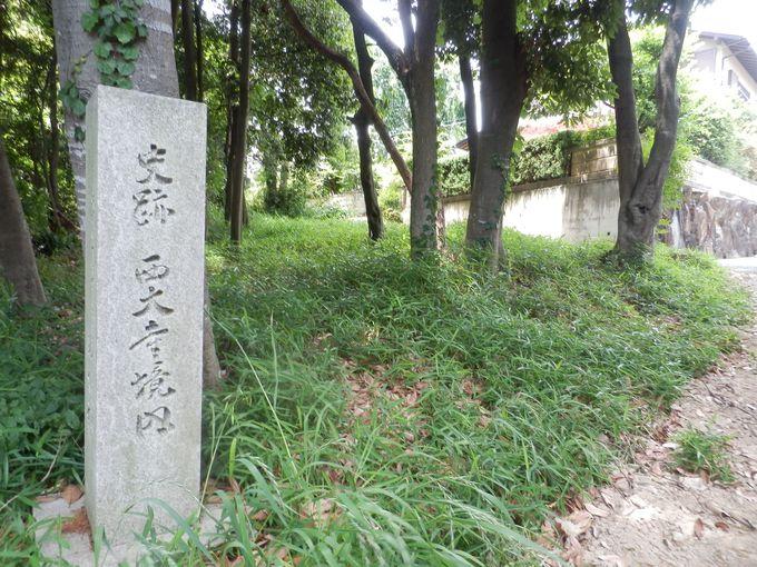 住宅地のなかに残された伝・称徳天皇御山荘跡