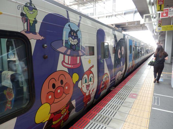 一度に複数のアンパンマン列車を見ることができる!