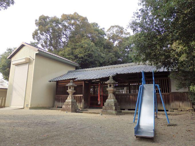 集落のなかにひっそりたたずむ北永井町の崇道天王社