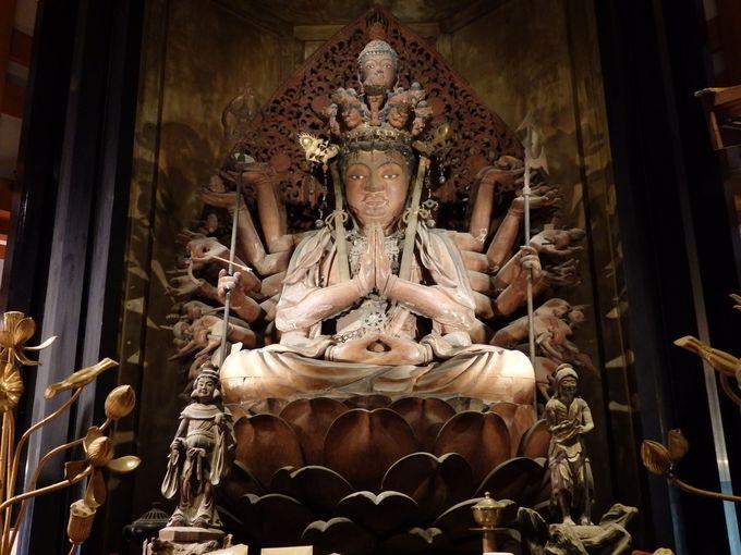 眼病に霊験あらたかな御本尊・十一面千手観世音菩薩坐像