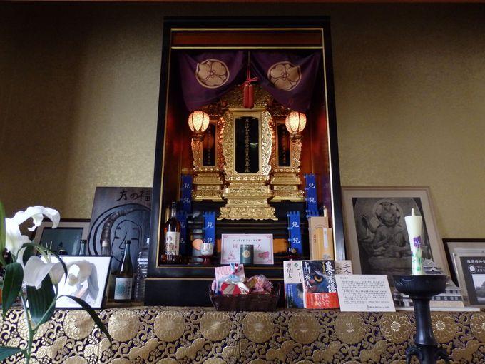 直家および宇喜多家の位牌が安置されている光珍寺