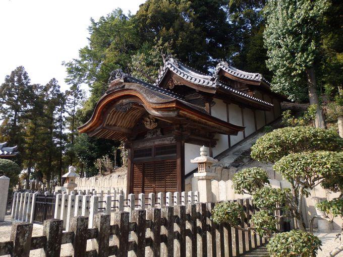 このなかに太子が!叡福寺境内の聖徳太子御廟所