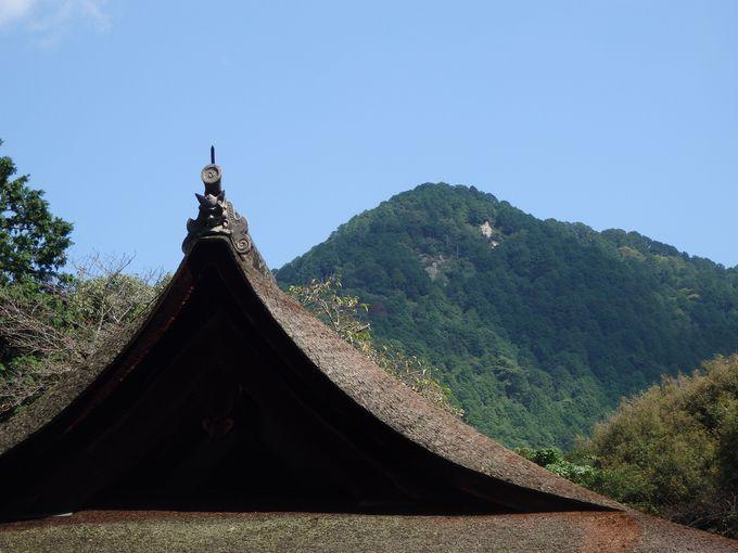 いまでも御神体に見守られていることがうかがえる!拝殿と三上山