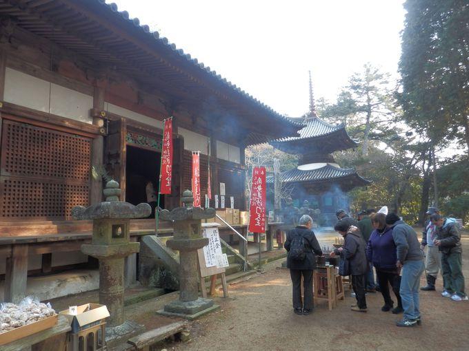 国の重要文化財に指定されている本堂および多宝塔