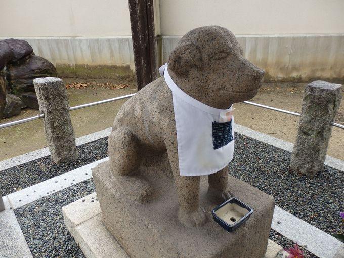 王寺町のマスコットキャラクターに選ばれている雪丸像