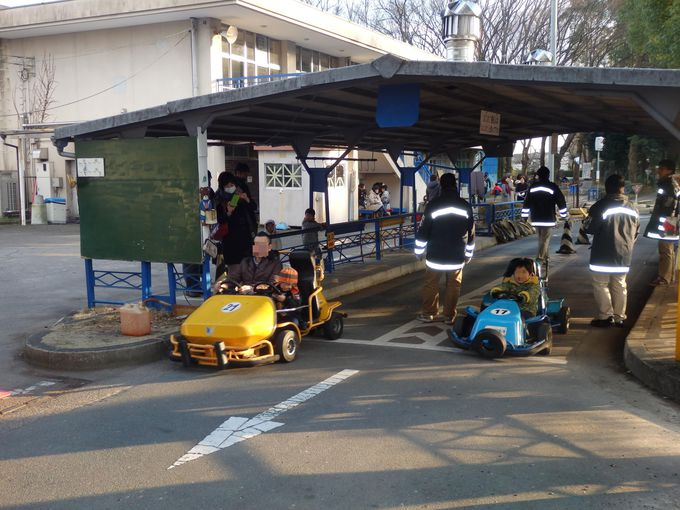 ゴーカートでGO!大宮交通公園の目玉であるゴーカート乗り場
