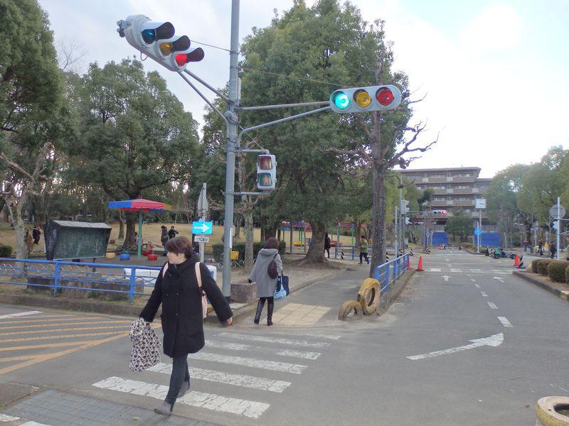 本当に公園!?信号機や横断歩道まである京都の大宮交通公園