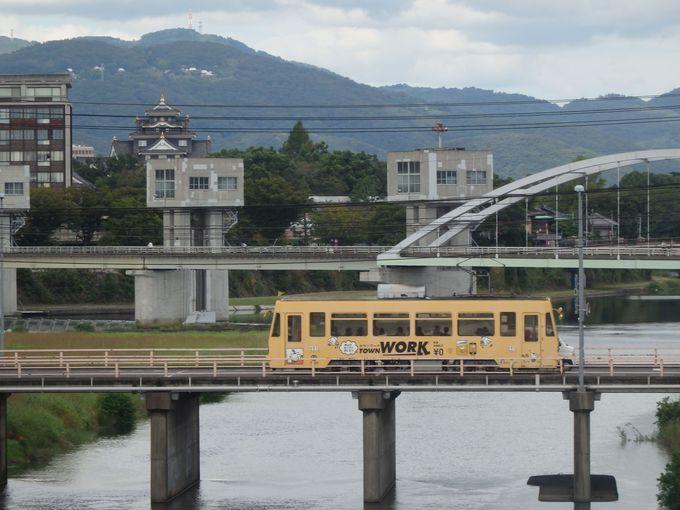 岡山城とセットで!新京橋からの眺め