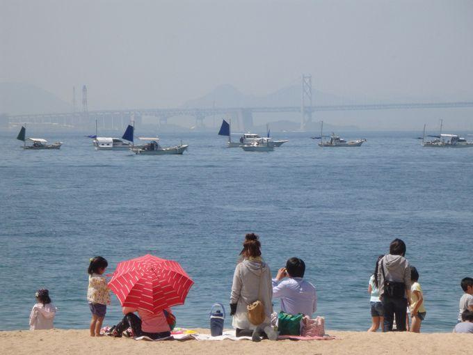 瀬戸大橋も!くつろぐには最高の渋川海岸