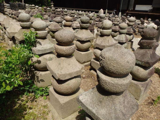 元興寺は石造物のメッカ!圧倒的な数を誇る石塔・石仏群「浮図田」