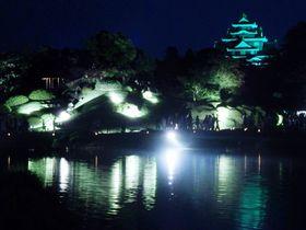 夜の後楽園を散策!ライトアップされた岡山「夏の幻想庭園」|岡山県|トラベルjp<たびねす>