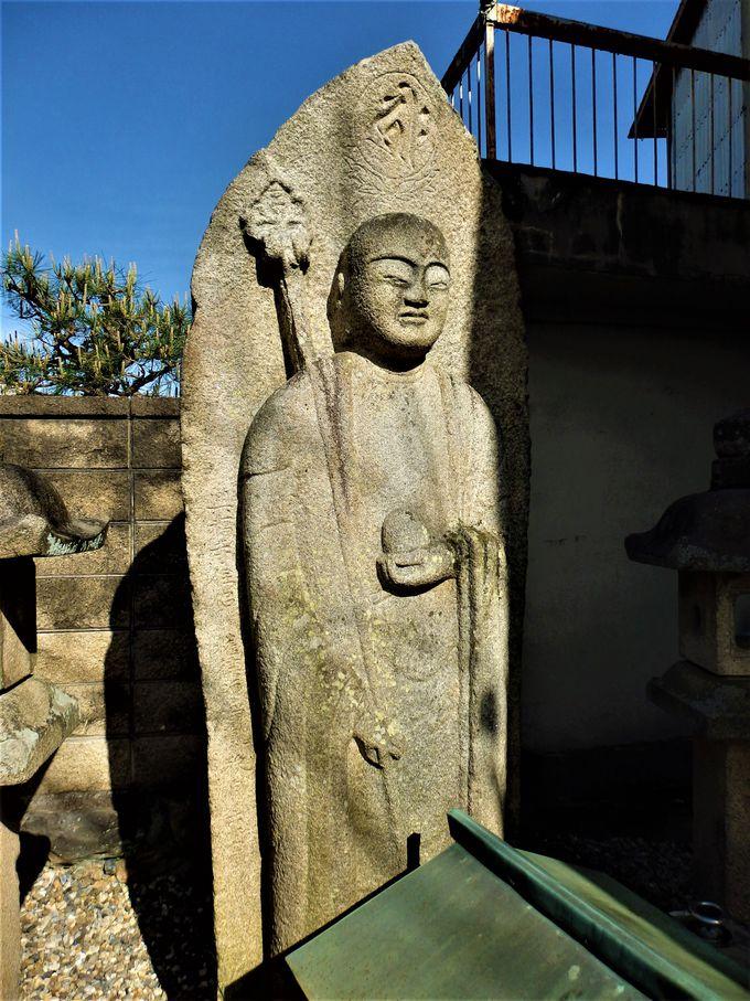 会津八一ゆかりの夕日観音と東大寺大仏殿の大屋根