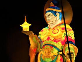 世界遺産・平城宮跡に四天王降臨!奈良市の「大立山まつり」