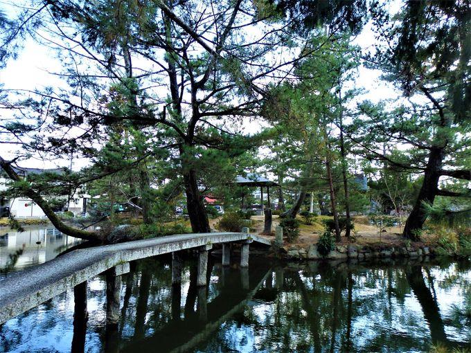 古代庭園の名残り!後楽園のもとになったとされる境内の庭園