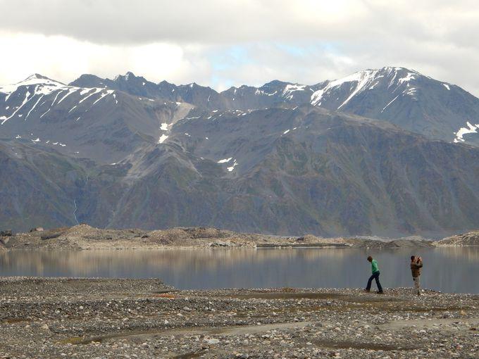 氷河湖へ着地〜帰路