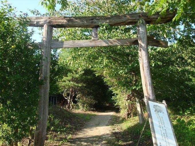 続石への入り口