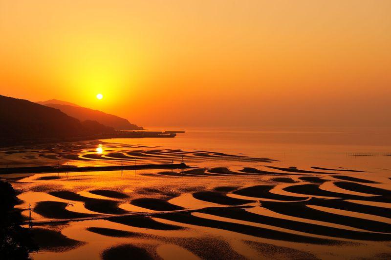 熊本県宇土・天草の有明海が作る巨大アートを鑑賞しよう!