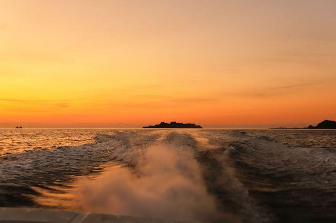 軍艦島に沈む夕陽が見たい!