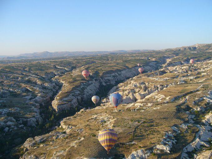 気球からの不思議な光景に大感動!