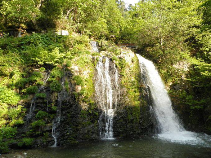 散策に疲れたら、白銀の滝でエネルギーチャージ!