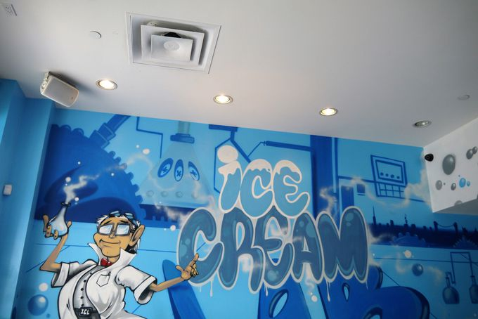 注文してから急速冷却法で作る超フレッシュな近未来アイスクリーム