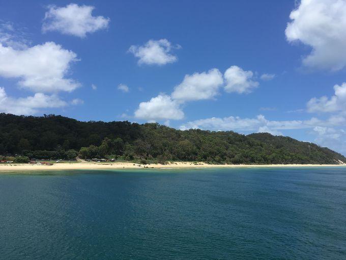 白砂が美しい、砂の島「モートン島」