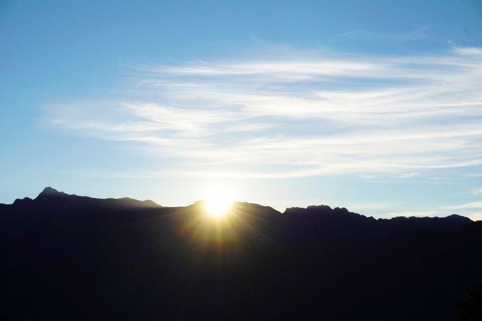 最高のエネルギー補給は阿里山からの朝日鑑賞で