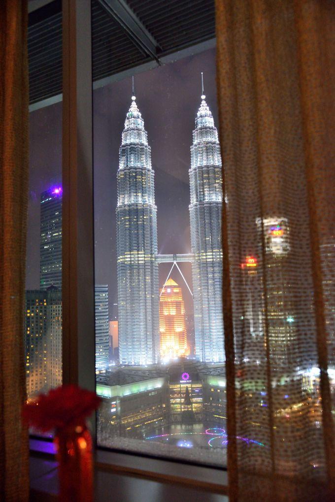 客室からの夜景