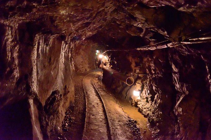長い長い坑道を巡る!明延鉱山探検坑道