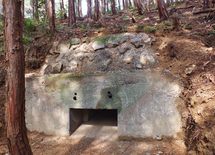 二基の隧道が連続するトーチカ