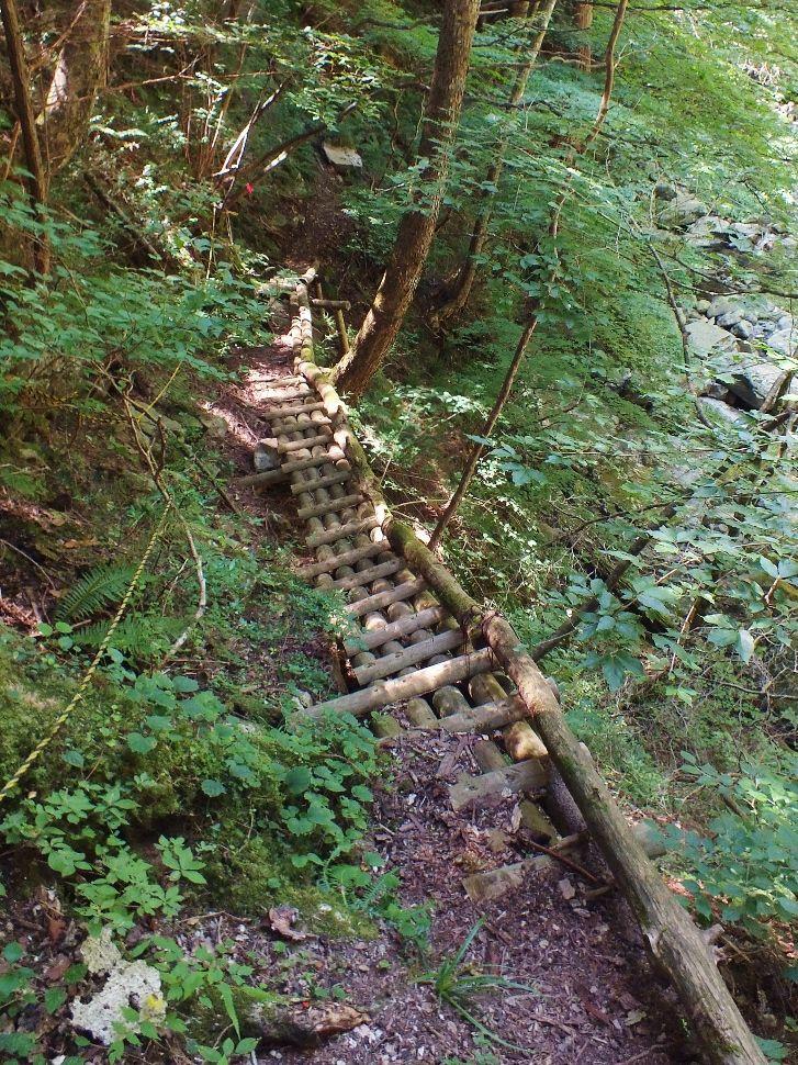 七つの甌穴が連続する景勝地