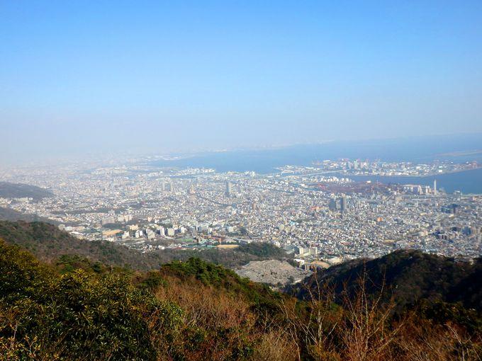 眺望最高!新神戸駅~ミシュラン2つ星「摩耶山・掬星台」へ絶景ハイキング