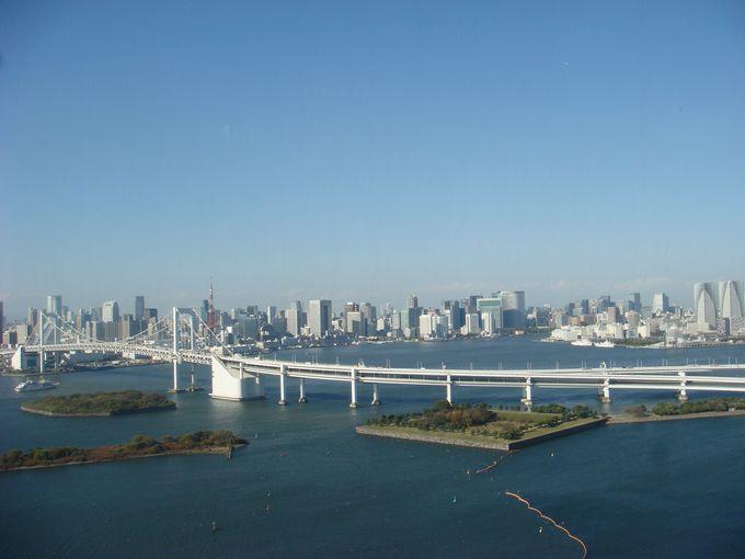 東京らしい景色が見渡せる「お台場」、東京タワーを探せ