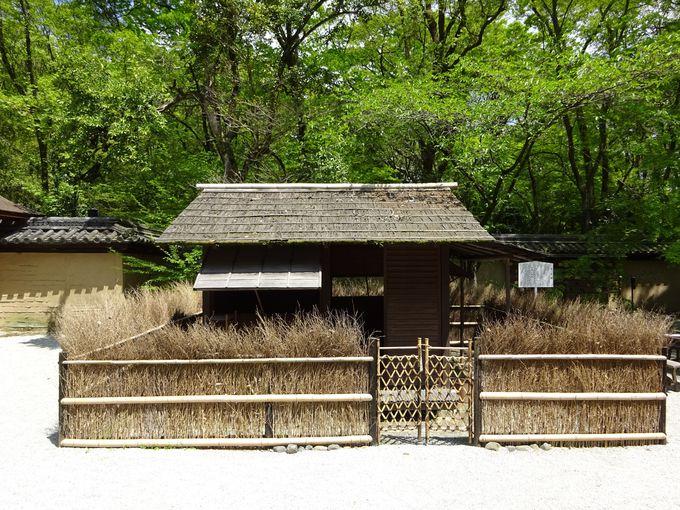 復元された鴨長明の方丈の庵