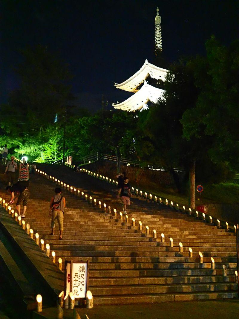 荘厳な「興福寺」エリアの灯り