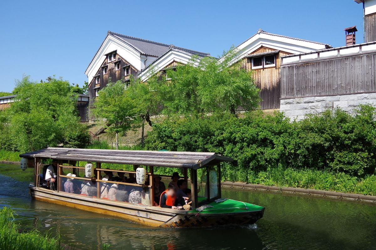 伏見稲荷大社から京阪電車15分+徒歩5分:伏見・十石舟