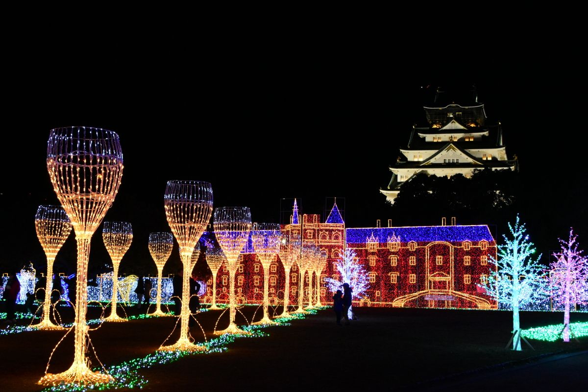 和洋折衷のイルミイベント「大阪城イルミナージュ」へ行こう!