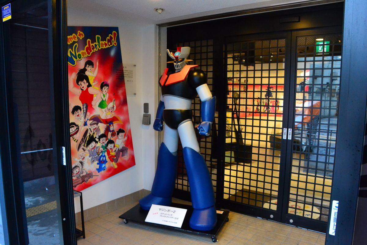 「永井豪記念館」では、おなじみのキャラクターがお出迎え
