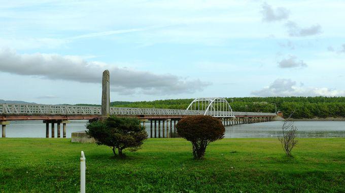 全長250メートルの中の島遊歩道橋